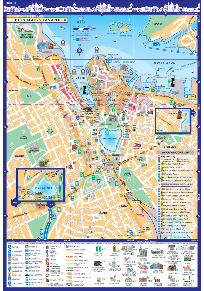 Stavanger Stavanger City Map Norway – Norway Tourist Attractions Map