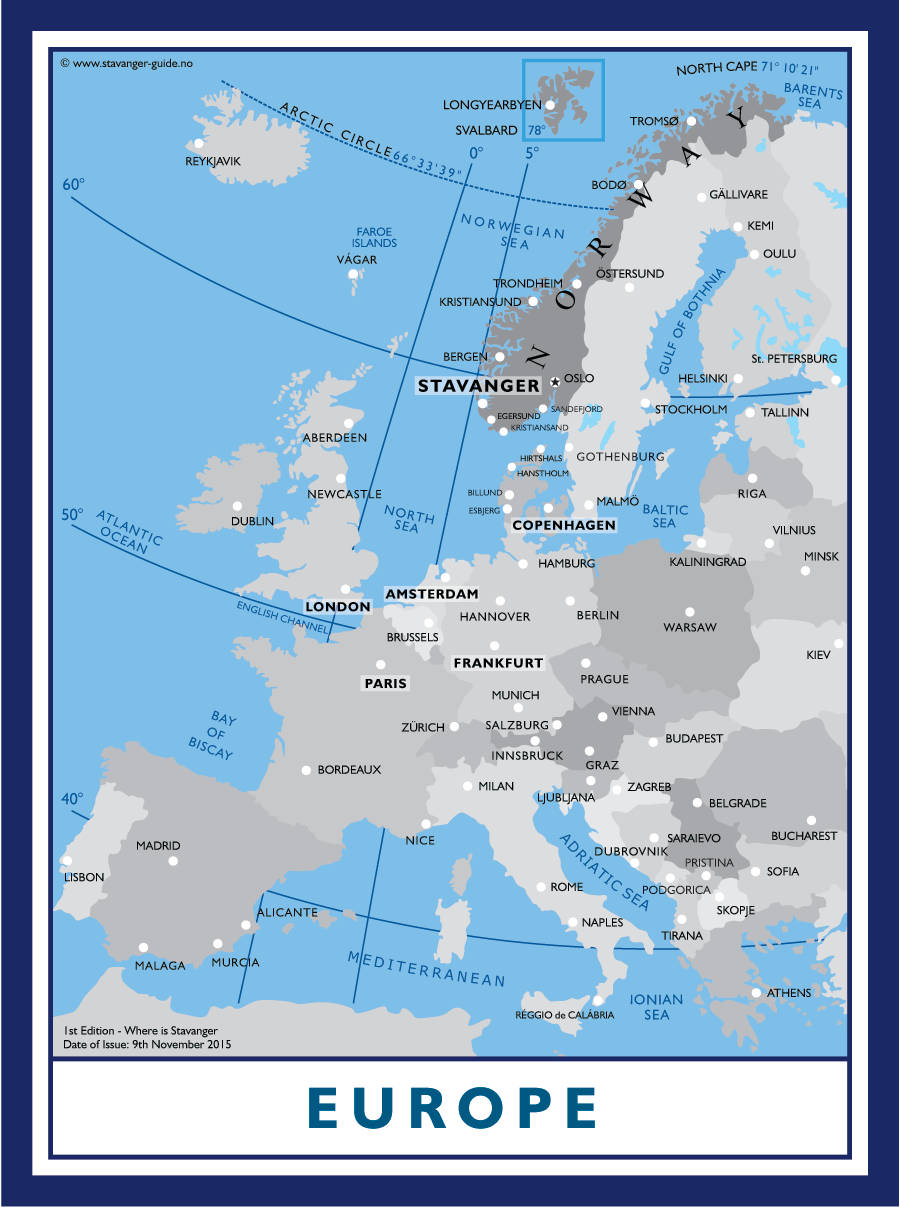 Where is Stavanger in relation to Europe?